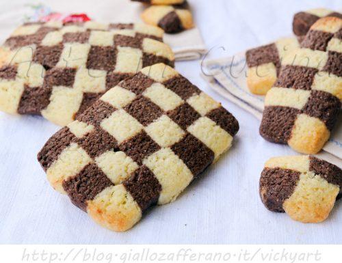 Biscotti a scacchi ricetta dolci facili