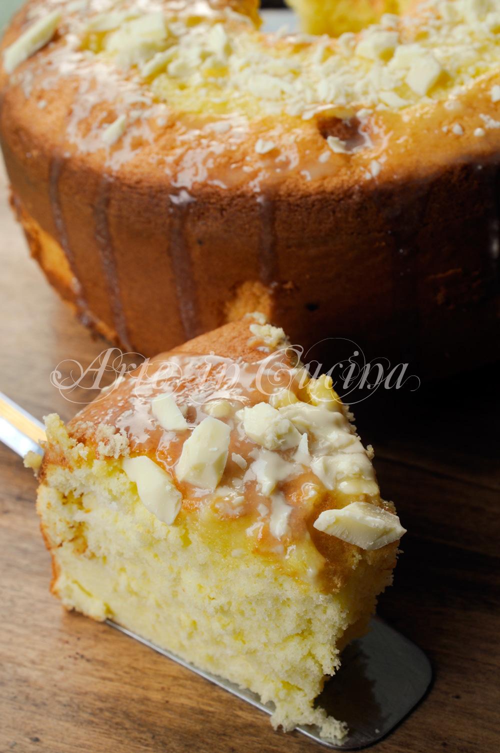 Chiffon cake limoncello e cioccolato bianco vickyart arte in cucina