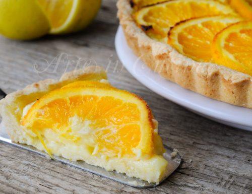 Crostata con crema all'arancia ricetta facile
