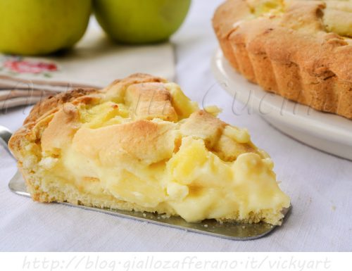Crostata con mele e crema pasticcera