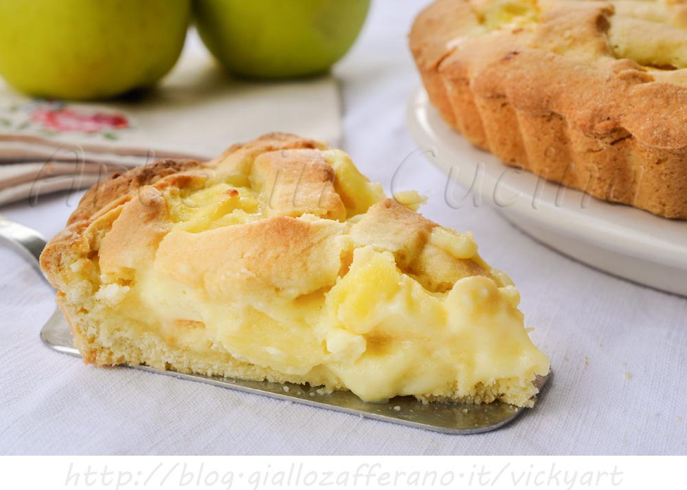 Crostata con mele e crema pasticcera arte in cucina for Crostata di mele