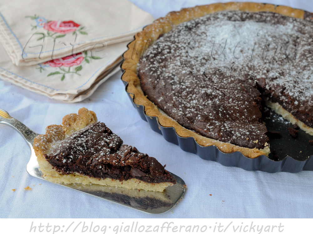 crostata al cioccolato ricetta dolce facile arte in cucina. Black Bedroom Furniture Sets. Home Design Ideas