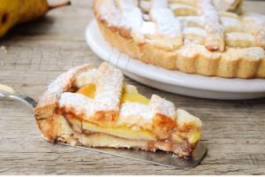 Crostata morbida pere crema e marmellata ricetta facile