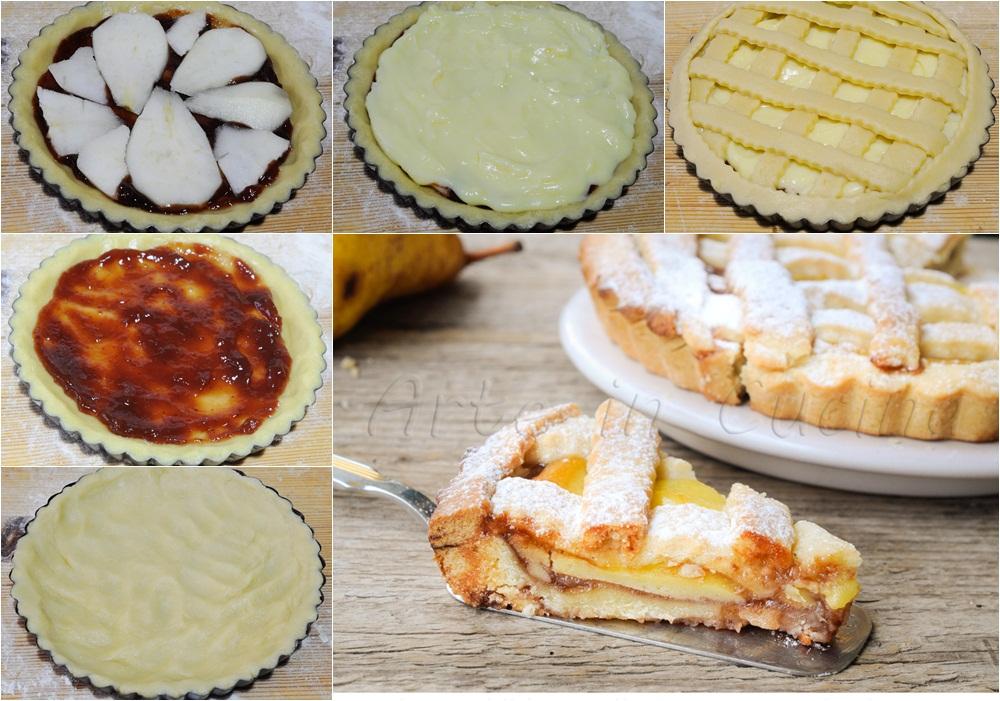 Crostata morbida pere crema e marmellata ricetta facile vickyart arte in cucina