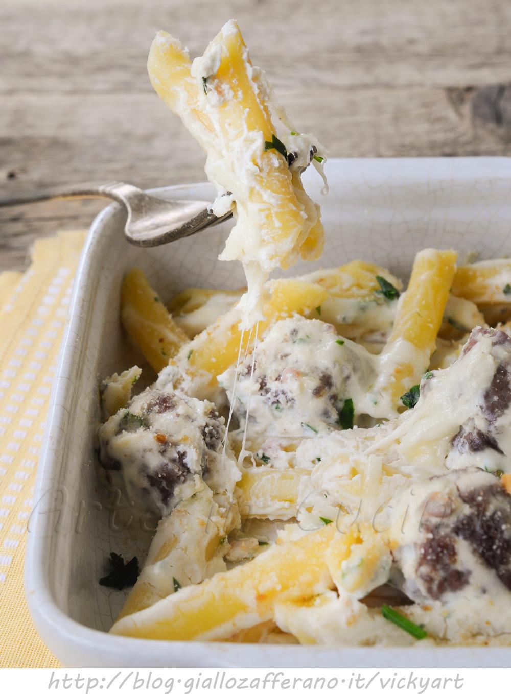 Pasta con polpette e ricotta gratinata al forno vickyart arte in cucina