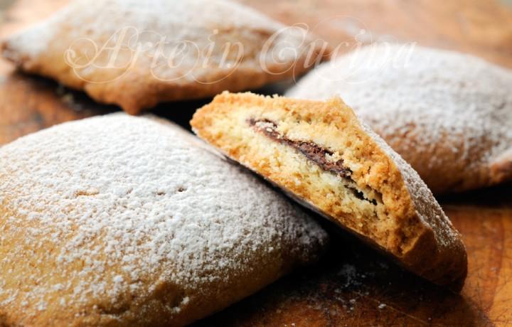 Ravioli dolci alla nutella biscotti ripieni