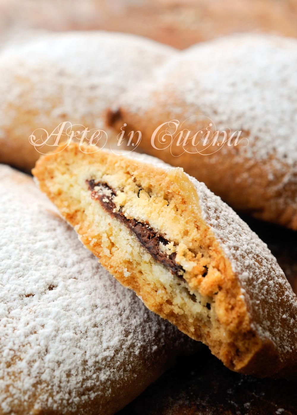 Ravioli dolci alla nutella biscotti ripieni vickyart arte in cucina