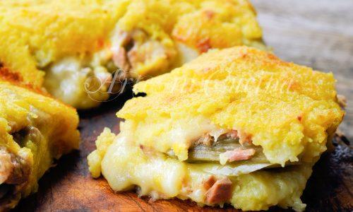 Schiacciata di patate tonno e carciofi ricetta facile