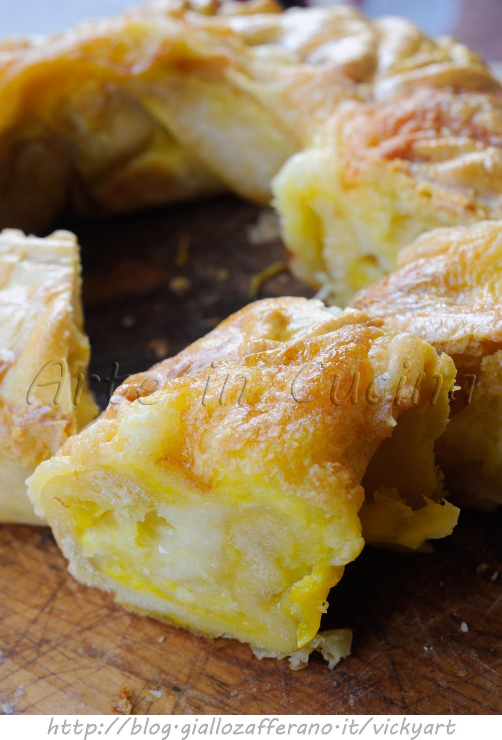 Soffione salato ai formaggi ricetta ciambella abruzzese vickyart arte in cucina