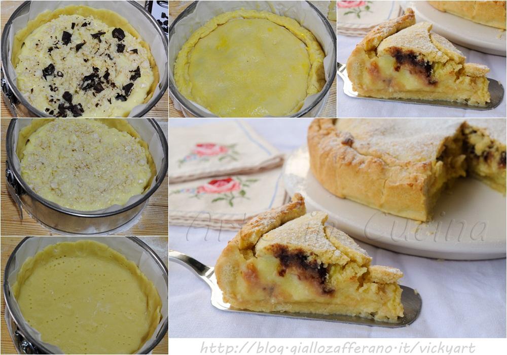 Torta pasticciotto crema mandorle e cioccolato vickyart arte in cucina