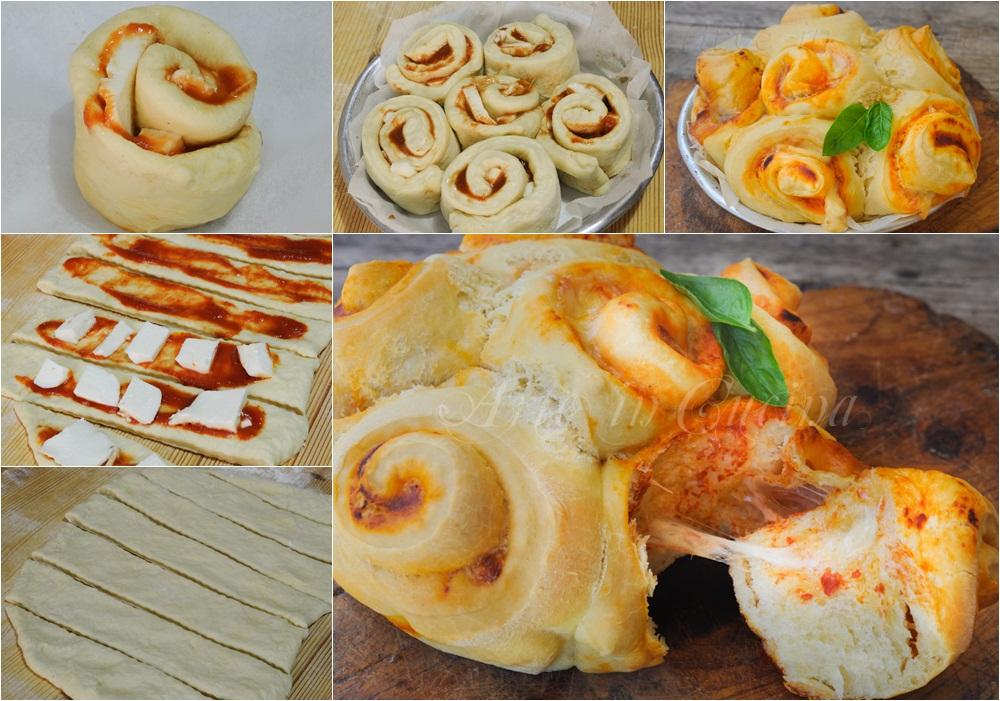 Torta di rose pomodoro e mozzarella ricetta facile vickyart arte in cucina