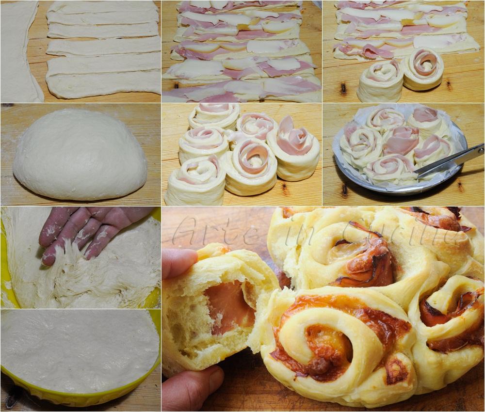 Torta di rose al prosciutto e scamorza ricetta facile vickyart arte in cucina