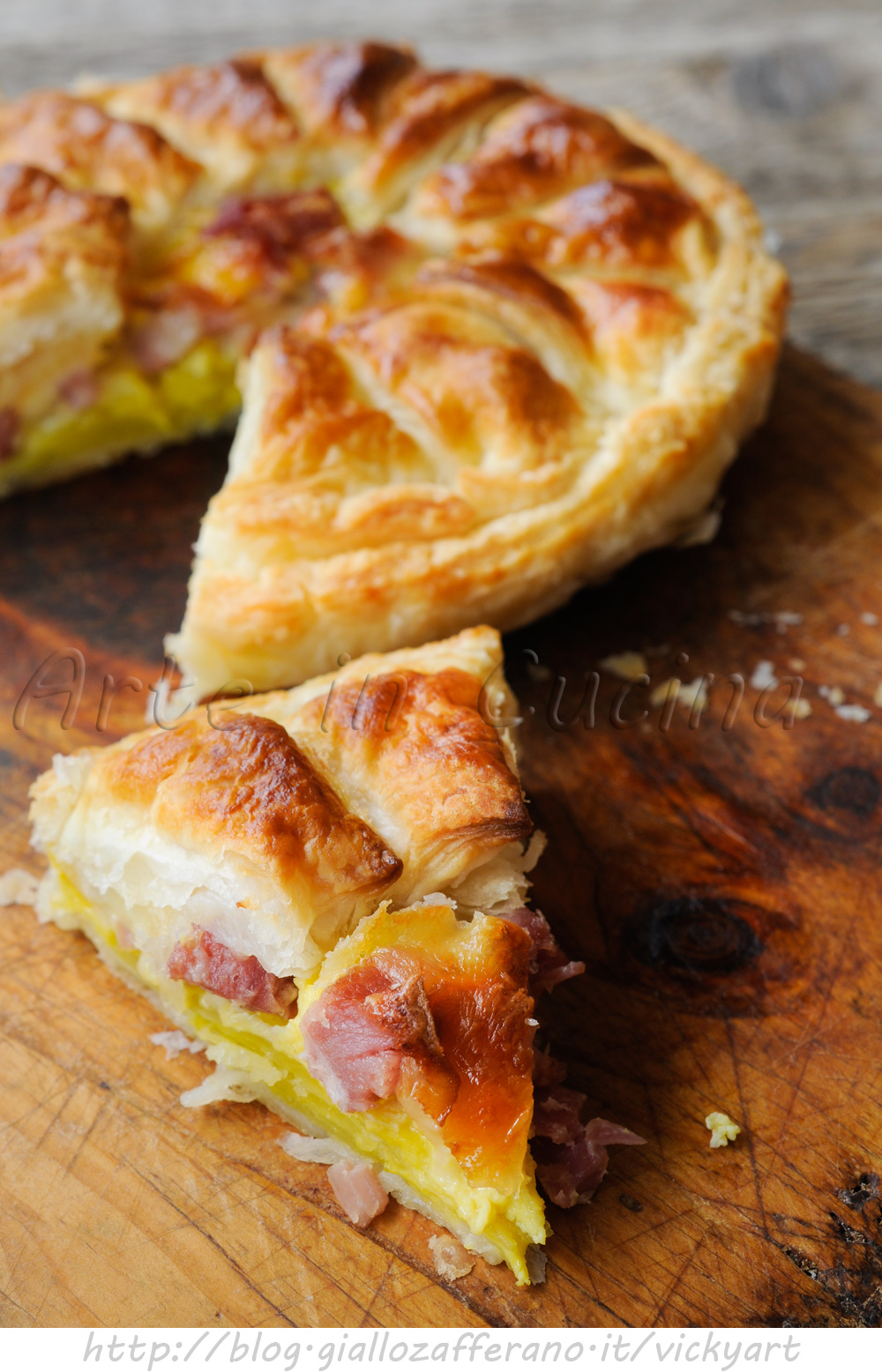 Torta sfogliata salata ai formaggi patate e salumi vickyart arte in cucina
