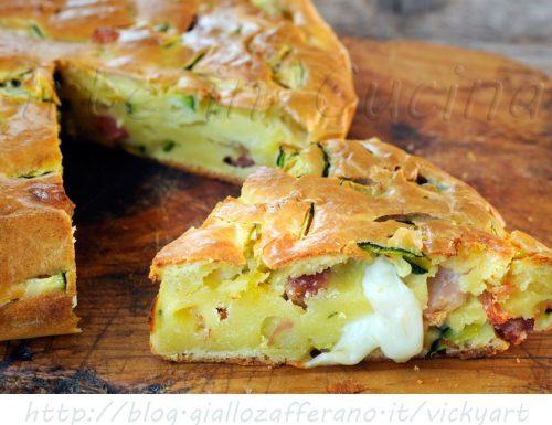 Torta con zucchine e salumi ricetta salata veloce