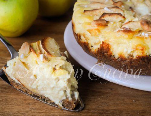 Cheesecake mele e ricotta al forno ricetta facile