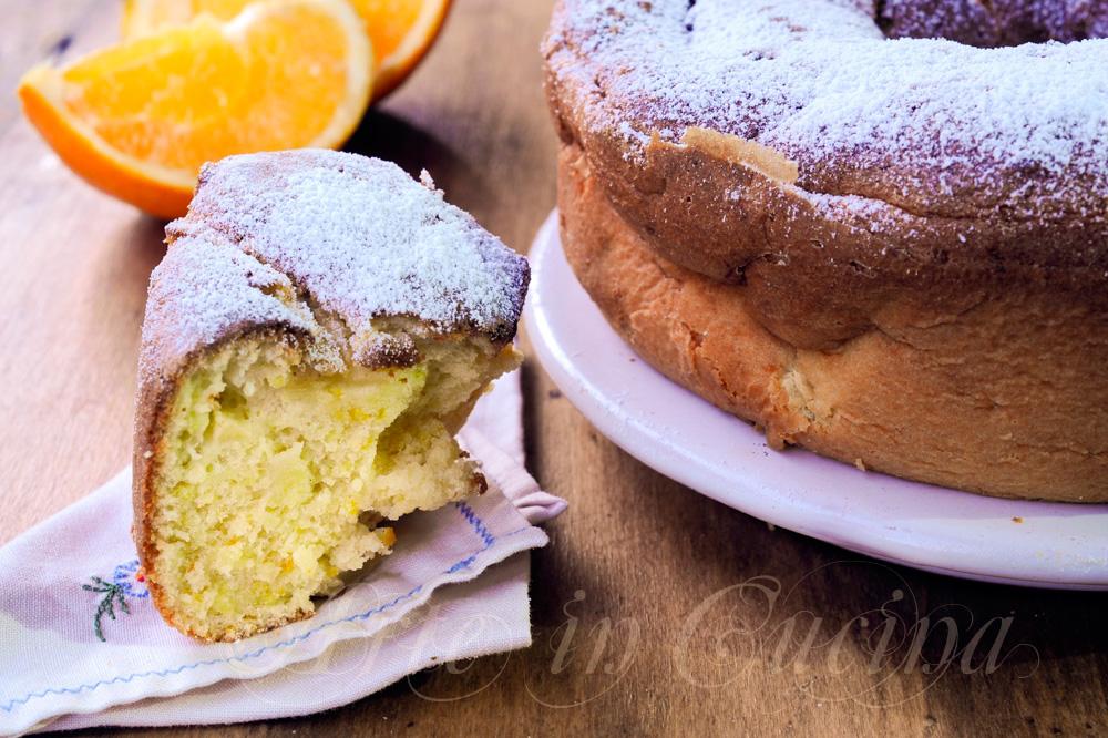 Ciambella all'arancia con mele e panna sofficissima vickyart arte in cucina