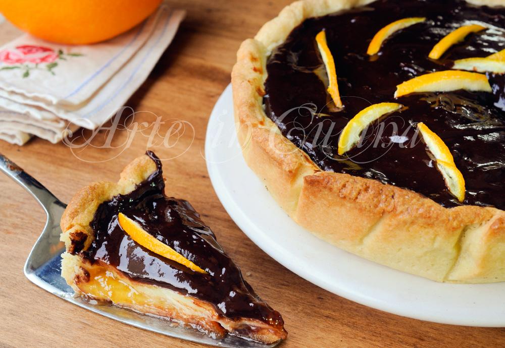 Crostata crema marmellata e cioccolato ricetta dolce vickyart arte in cucina
