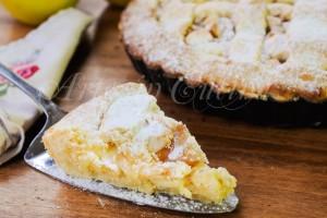 Crostata con mele pere e crema pasticcera ricetta dolce