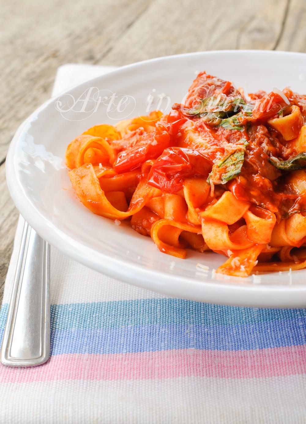 Fettuccine alla re Ferdinando II ricetta napoletana vickyart arte in cucina
