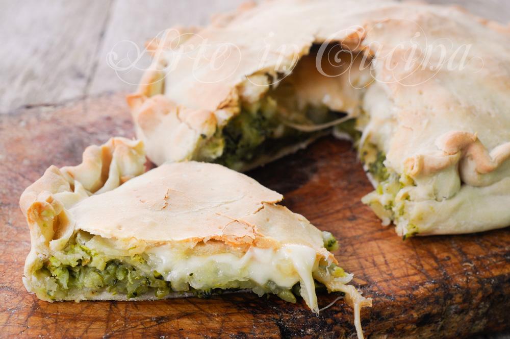 Focaccia ripiena broccoli e patate ricetta veloce vickyart arte in cucina