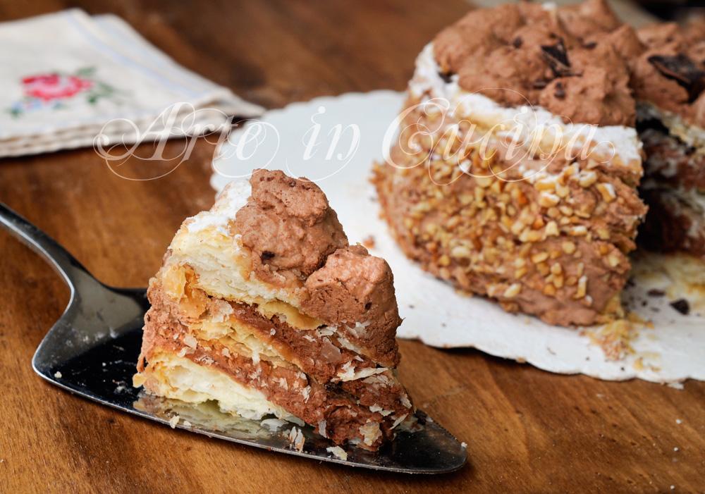 Millefoglie con chantilly al cioccolato dolce facile vickyart arte in cucina