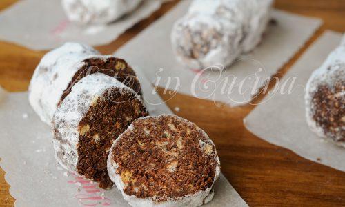 Mini salamini al cioccolato ricetta dolcetti