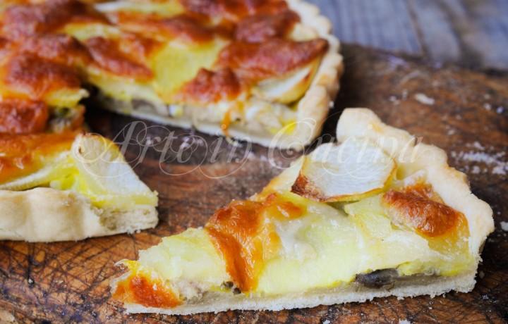 Quiche funghi e patate ricetta piatto unico