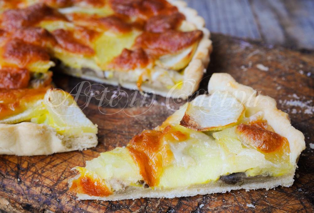 Quiche funghi e patate ricetta piatto unico vickyart arte in cucina