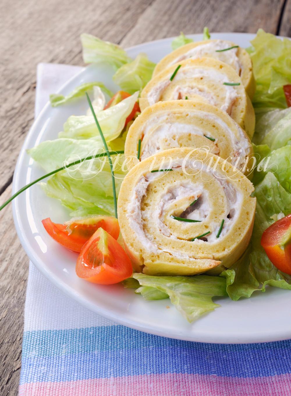 Ben noto Rotolo salato farcito veloce con tonno e ricotta | Arte in Cucina AQ32