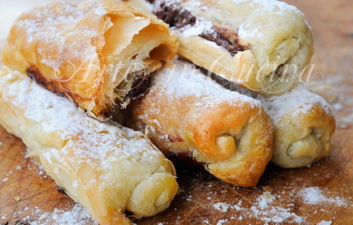 Sigari dolci di sfoglia alla nutella ricetta veloce