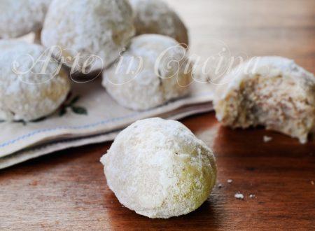 Snowball cookies biscotti alle mandorle veloci