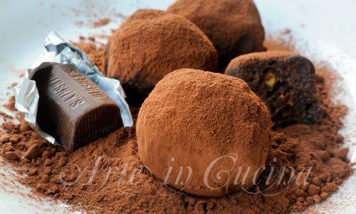 Tartufini cioccolato fragole ricetta veloce e mascarpone