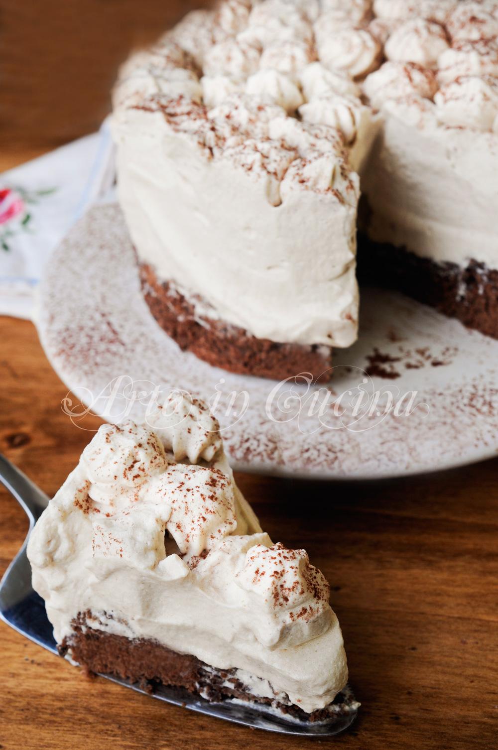 Torta mousse al caffè ricetta facile veloce vickyart arte in cucina