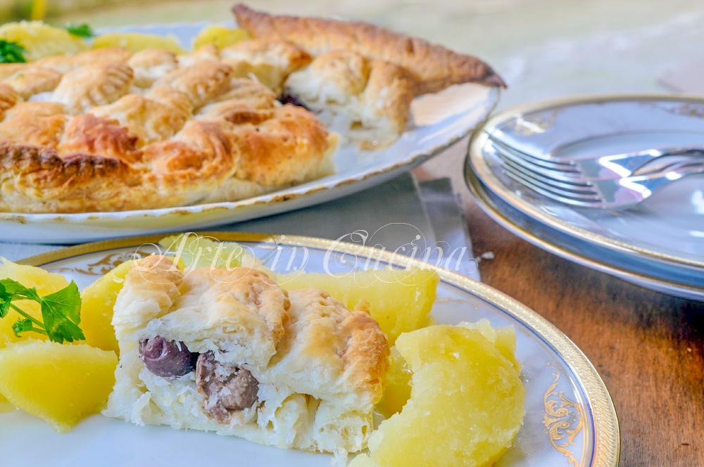 Baccalà in crosta di sfoglia a forma di pesce con patate vickyart arte in cucina