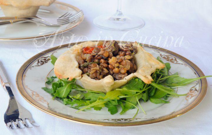 Cestini ripieni di lenticchie e scarola ricetta facile