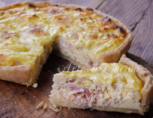 Cheesecake salata con ricotta e prosciutto