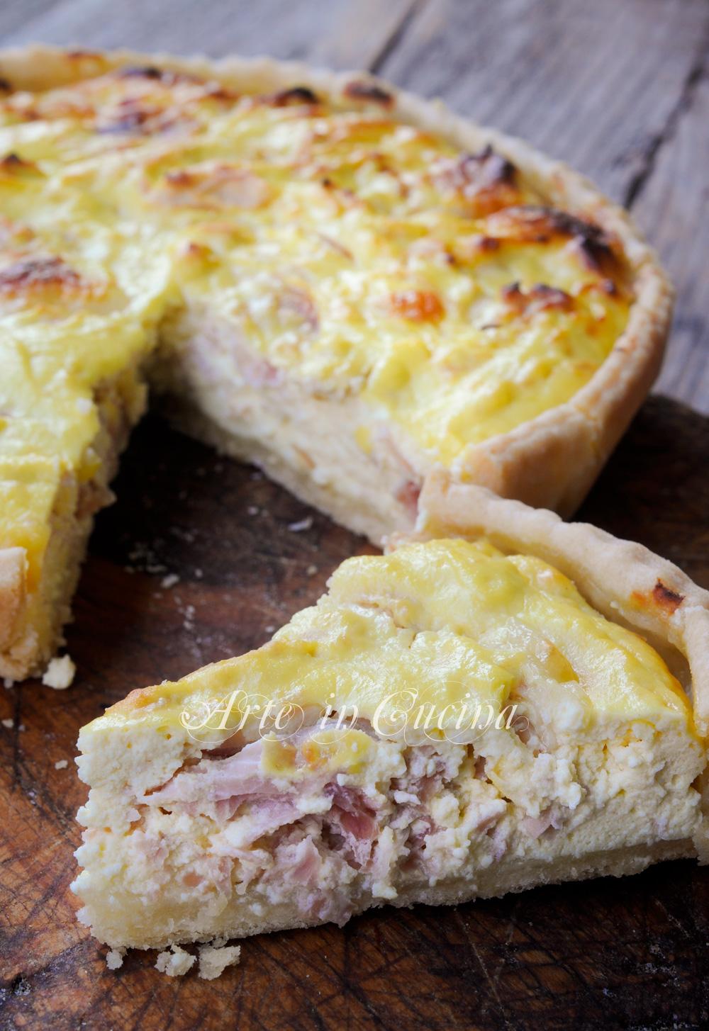 Cheesecake salata con ricotta e prosciutto vickyart arte in cucina