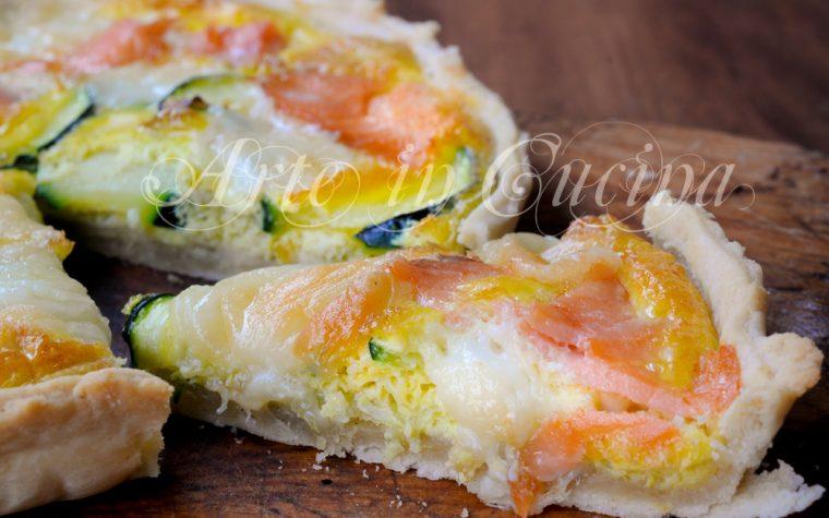 Crostata salmone e zucchine ricetta veloce