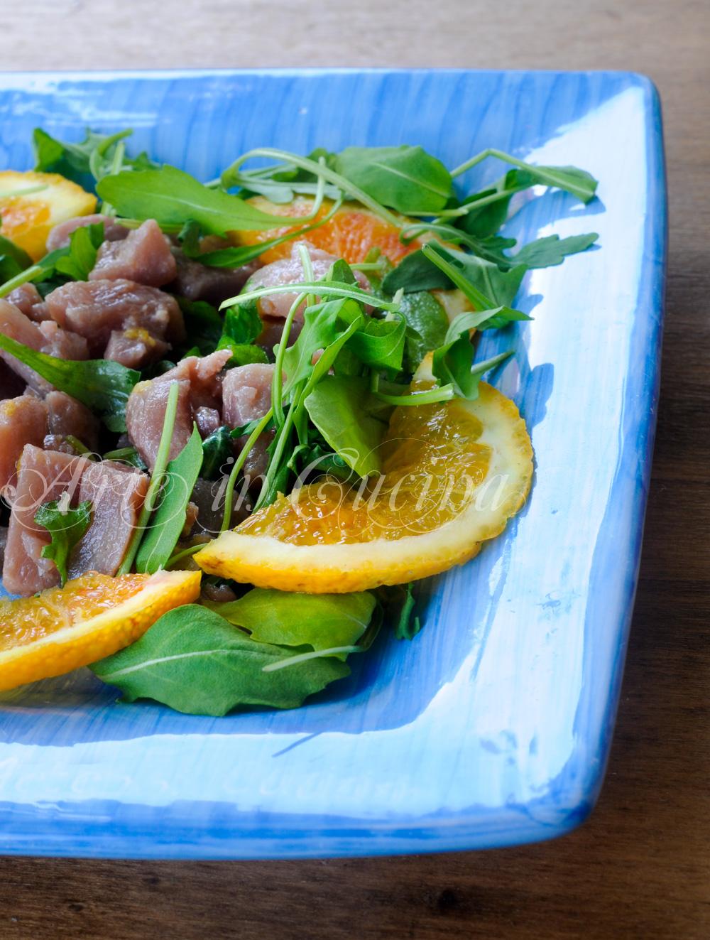 Insalata di tonno marinato all'arancia vickyart arte in cucina