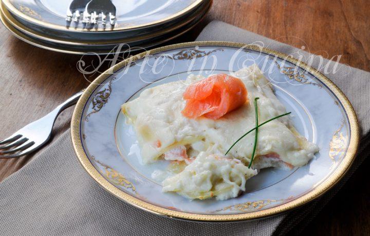 Lasagne al salmone e burrata con besciamella