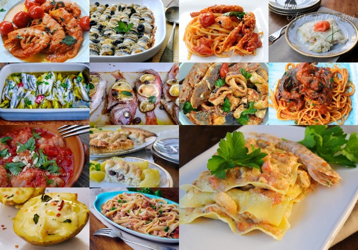 Menu cenone vigilia capodanno a base di pesce arte in cucina for Cucina primi piatti di pesce