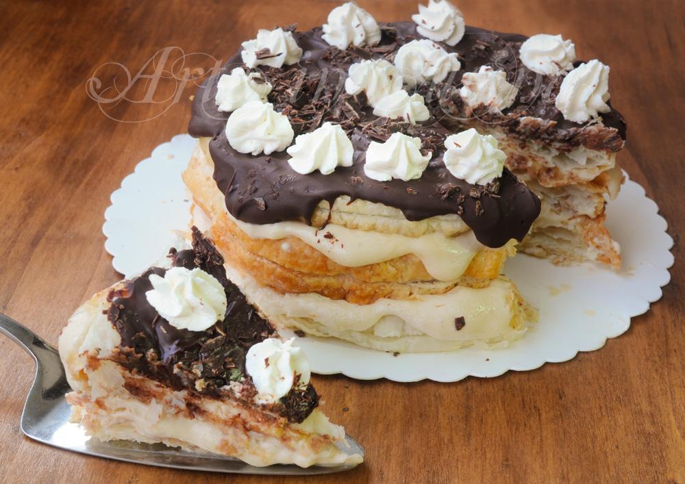 Millefoglie chantilly al caffè e cioccolato dolce facile vickyart arte in cucina