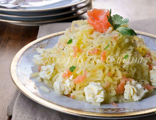 Montebianco salato di patate e salmone ricetta facile