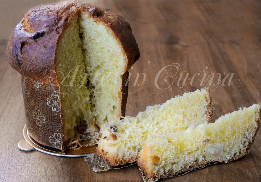 Panettoncini con mandorle e uvetta ricetta dolce vickyart arte in cucina
