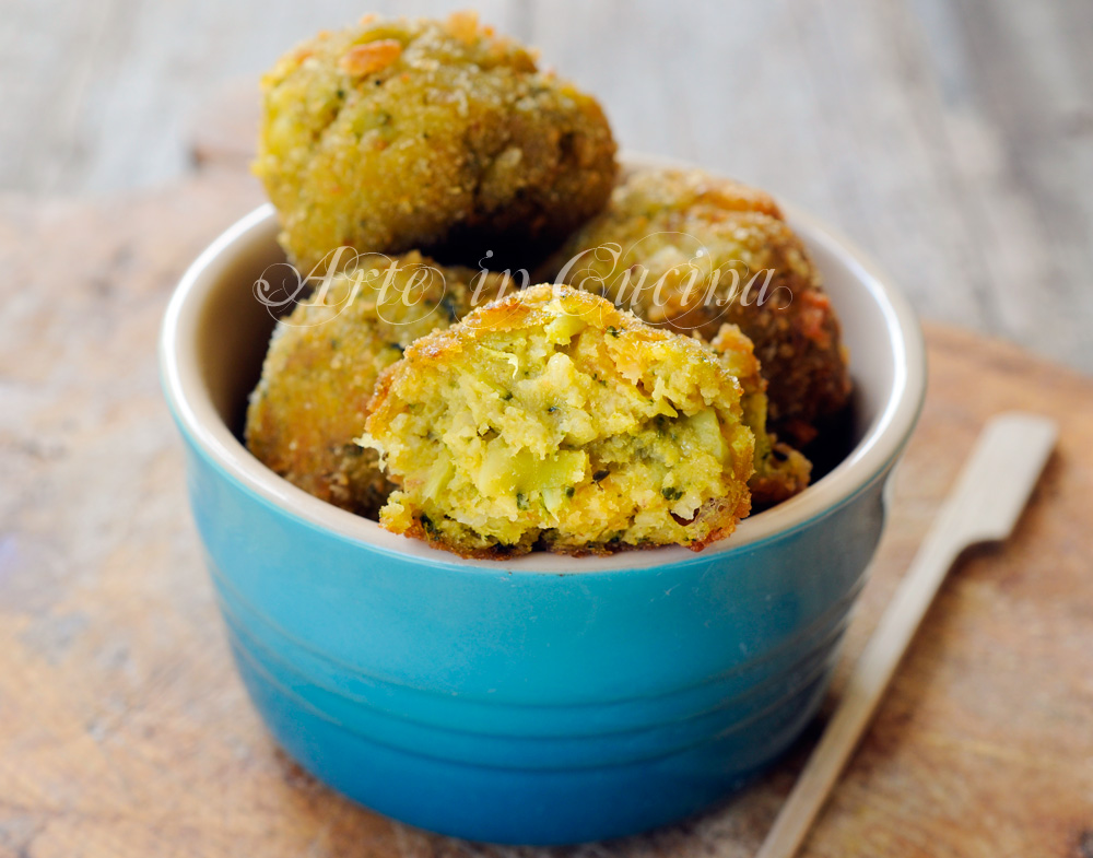 Polpette di broccoli e patate ricetta facile vickyart arte in cucina