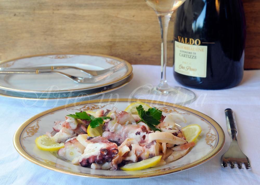 Polpo all'insalata con limone ricetta napoletana vickyart arte in cucina
