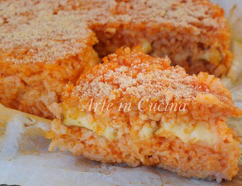 Riso al pomodoro al forno con provola ricetta facile