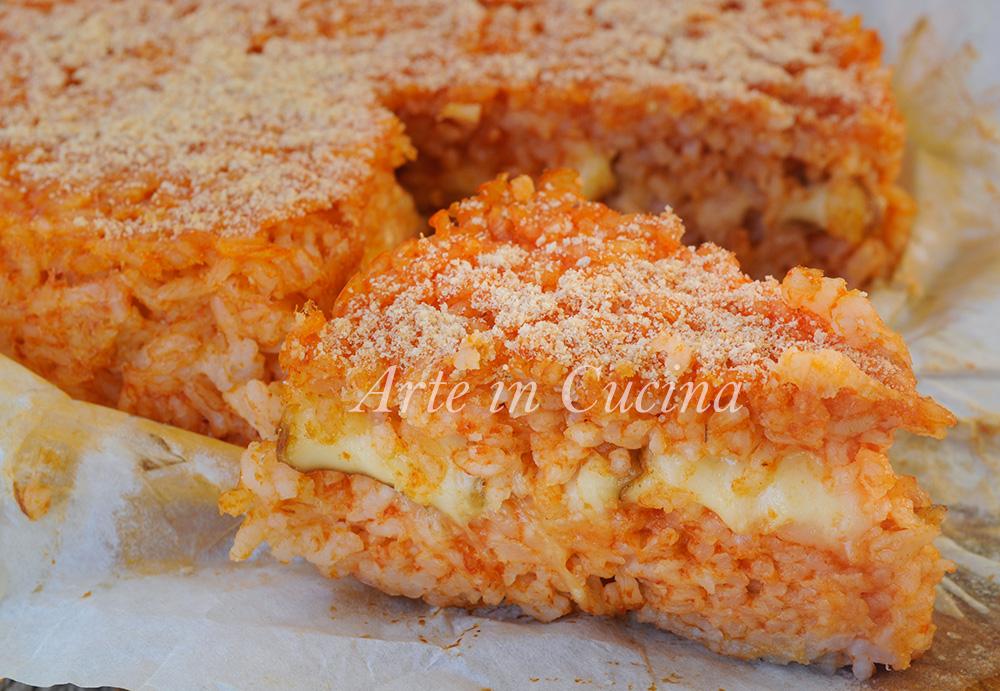 Riso al pomodoro al forno con provola ricetta facile vickyart arte in cucina