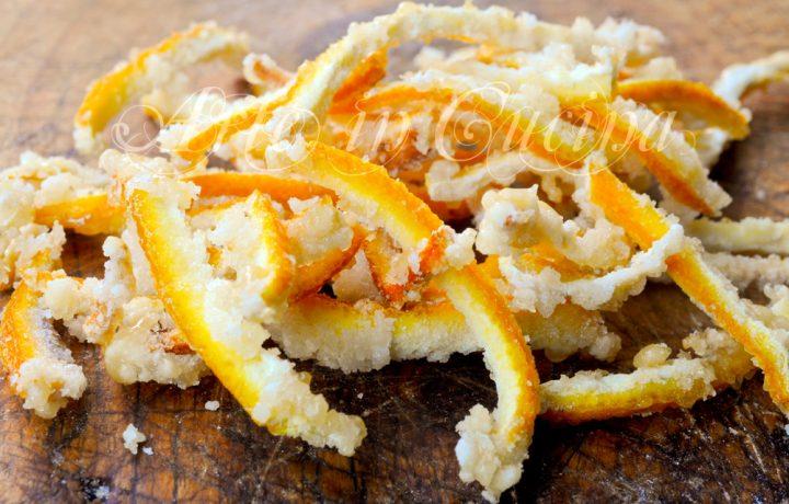 Scorzette di arancia caramellate facili e veloci