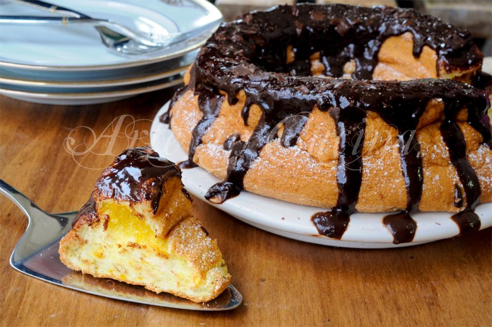 Torta pan degli angeli all'arancia sofficissima vickyart arte in cucina